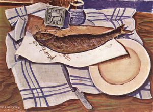 Gyula Derkovits - Still-life With Fish