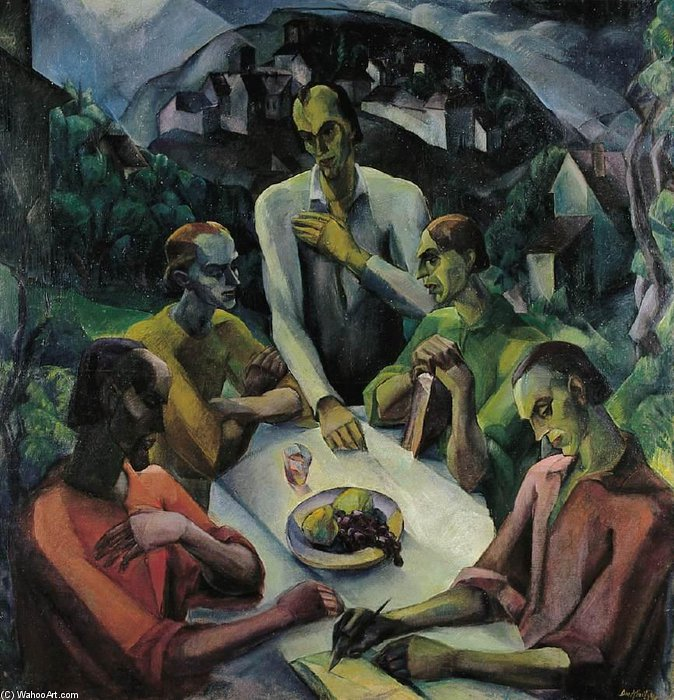 The Last Supper by Gyula Derkovits (1894-1934, Hungary)