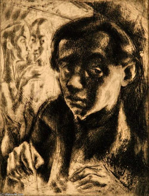 Self-portrait - by Gyula Hincz (1904-1986, Hungary) | Art Reproduction | WahooArt.com