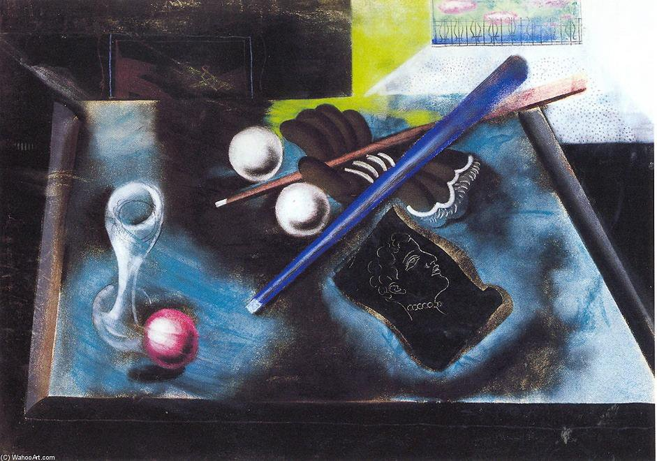 Snooker Still Life by Gyula Hincz (1904-1986, Hungary) | Oil Painting | WahooArt.com