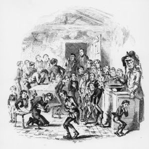Order Reproductions | The Internal Economy Of Dotheboys Hall by Hablot Knight Browne (1815-1882, United Kingdom) | WahooArt.com