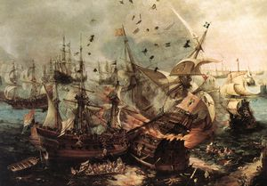 Hendrick Cornelisz Vroom - Battle Of Gibraltar