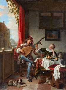Hendrick Maertensz Sorgh - The Lute Player