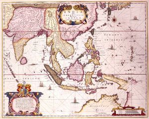 Hendrik I Hondius - General Map Extending From India To Southern Japan