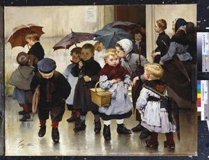 Henri Jules Jean Geoffroy Dit Geo - Leaving The Class