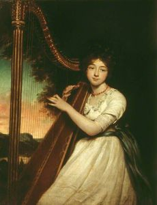 James Northcote - A Young Lady Playing The Harp