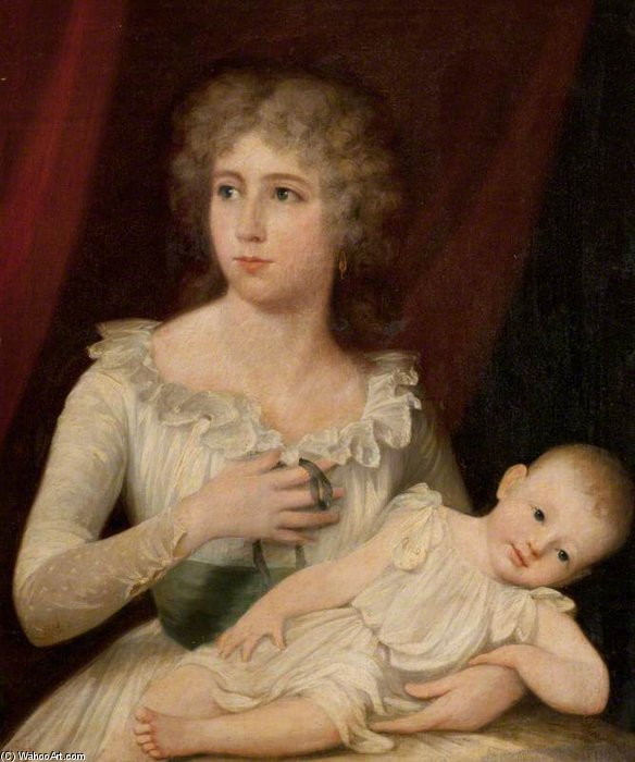Buy Museum Art Reproductions | Ann, Wife Of James Brodie, And Her Son, Presumably William by James Northcote (1746-1831, United Kingdom) | WahooArt.com