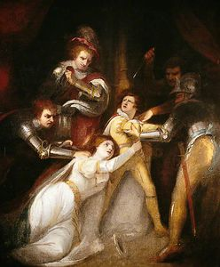 James Northcote - The Murder Of Edward, Prince Of Wales, At Tewkesbury