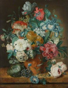 Jan Van Os - Still Life Of Summer Flowers