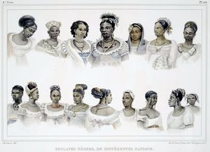 Jean Baptiste Debret - Black Slaves Of Different Nation In Brazil
