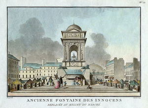 Jean Francois Janinet - Old Fountain Of The Innocents. Placed In The Middle Of The Market.