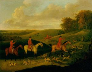 John Nost Sartorius - Hunting Scene, Finding The Scent