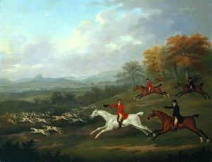 John Nost Sartorius - The Earl Of Darlington Fox-hunting With The Raby Pack -