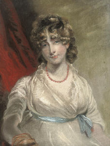 John Raphael Smith - Portrait Of Mrs Arabella Bouverié, Half-length, With A Blue Ribbon