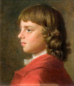 John Russell - Portrait Of A Boy In A Red Coat