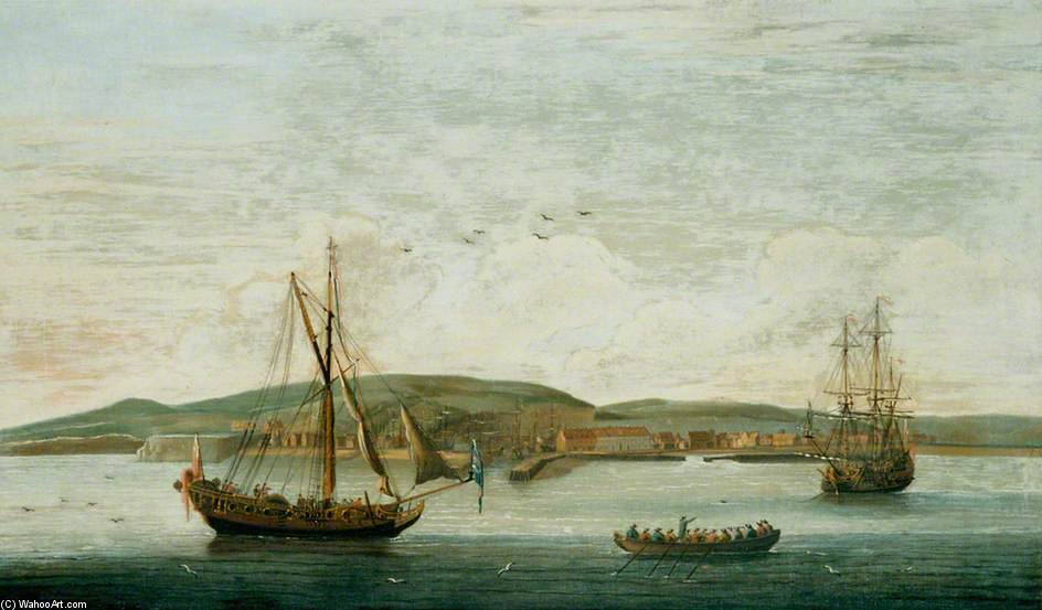 Men O' War Off Newhaven, Sussex by John Thomas Serres (1759-1825, United Kingdom)