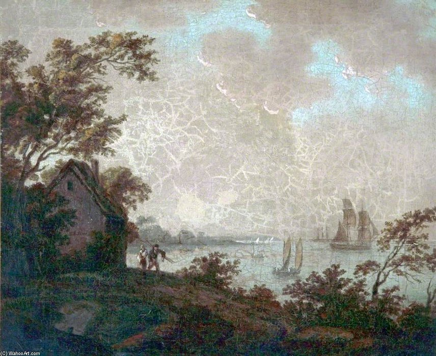 Near Woodside, Birkenhead, Wirral by John Thomas Serres (1759-1825, United Kingdom)