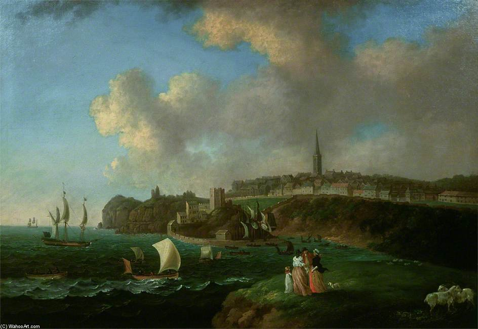 Tenby by John Thomas Serres (1759-1825, United Kingdom)
