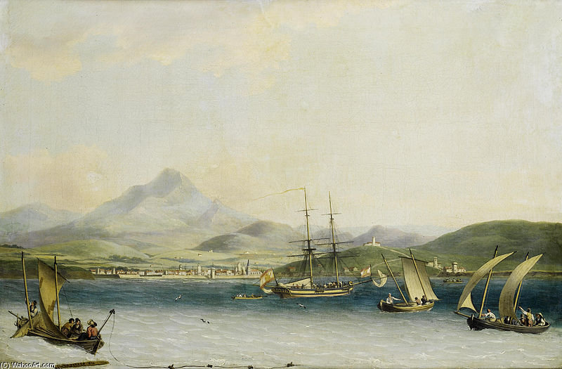 The Entrance To The Port Of San Sebastian by John Thomas Serres (1759-1825, United Kingdom)