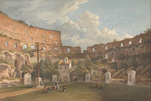 John Warwick Smith - An Interior View Of The Colosseum, Rome