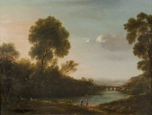 John Warwick Smith - River With Bridge
