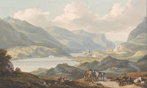 John Warwick Smith - The Lakes Of Llanberis - From The Road From Carnarvon Going To Llanberis