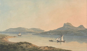 John Warwick Smith - View Of The Early Castle Of Diganwy