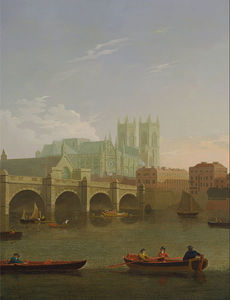 Joseph Farington - Westminster Abbey And Bridge