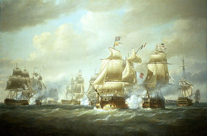 Nicholas Pocock - Duckworth's Action Off San Domingo -
