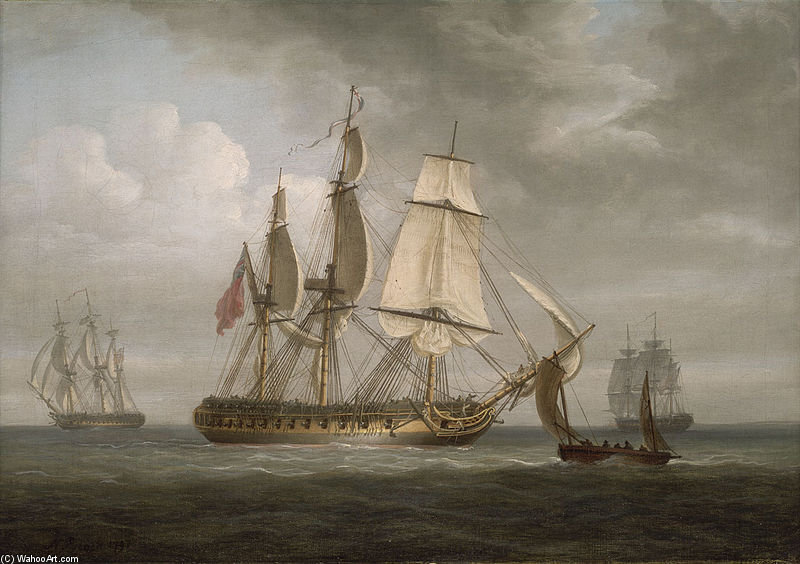 The Frigate `triton` by Nicholas Pocock (1740-1821, United Kingdom) | Museum Quality Reproductions | WahooArt.com