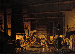 Pehr Hillestrom - In The Anchor-forge At Söderfors