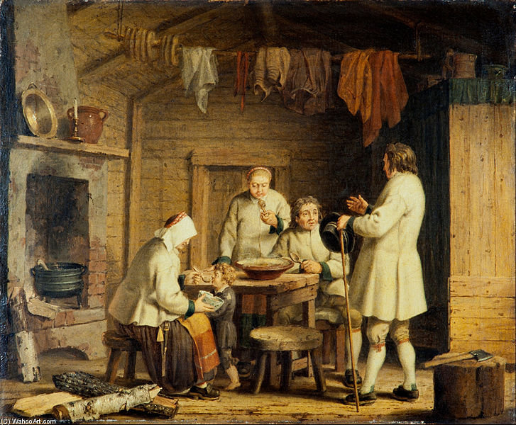 People From Mora In Dalecarlia by Pehr Hillestrom (1732-1816, Sweden) | Art Reproductions Pehr Hillestrom | WahooArt.com