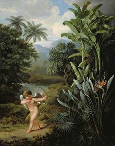 George Philip Reinagle - Cupid Inspiring The Plants With Love