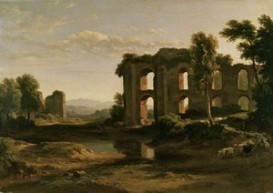 Ramsay Richard Reinagle - Landscape Near Tivoli, With Part Of The Claudian Aqueduct