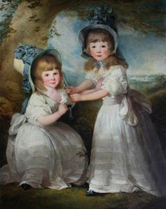 Richard Cosway - The Daughters Of Lady Boynton As Children