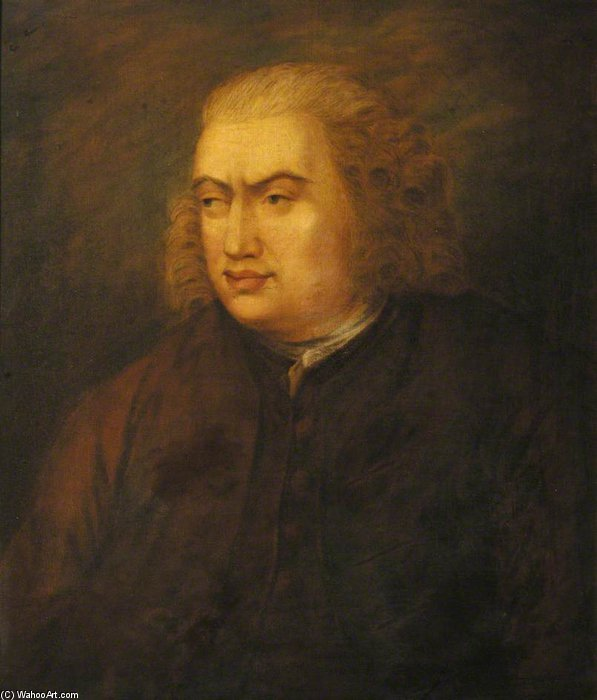 Buy Museum Art Reproductions | Samuel Johnson by Robert Edge Pine (1730-1788, United Kingdom) | WahooArt.com