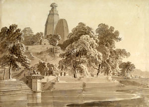 Thomas And William Daniell - Madan Mohan Temple, On The Yamuna, Vrindavan