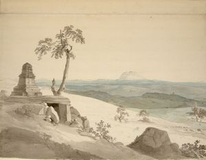 Thomas And William Daniell - Temple Near Benares