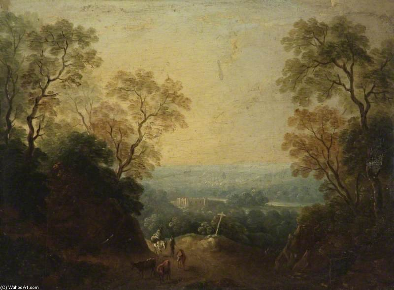 A View Of Longleat, Wiltshire by Thomas Barker (1769-1847, United States) | Oil Painting | WahooArt.com