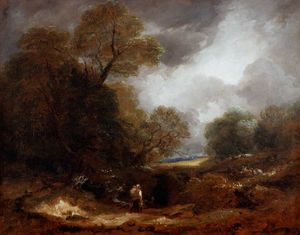Thomas Barker - Landscape With Figures -
