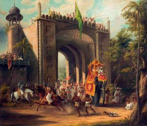 Thomas And William Daniell - A State Procession In India