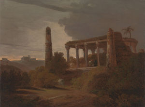 Thomas And William Daniell - Indian Landscape With Temple Ruins