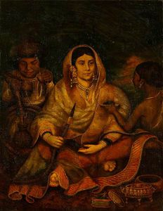 Thomas Hickey - Indian Woman And Two Servants