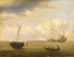 Thomas Luny - A View Off The Coast Of France