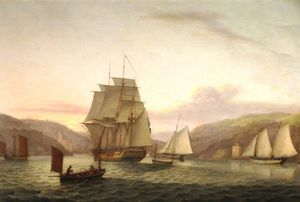 Thomas Luny - Armed Merchantmen Into Dartmouth