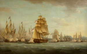 Thomas Whitcombe - Hms 'spartan' And French Frigates