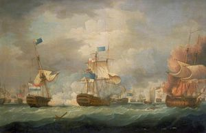Thomas Whitcombe - The Battle Of Camperdown