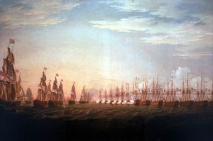 Thomas Whitcombe - The Battle Of The Nile -
