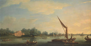 Thomas Whitcombe - The Thames At Chelsea