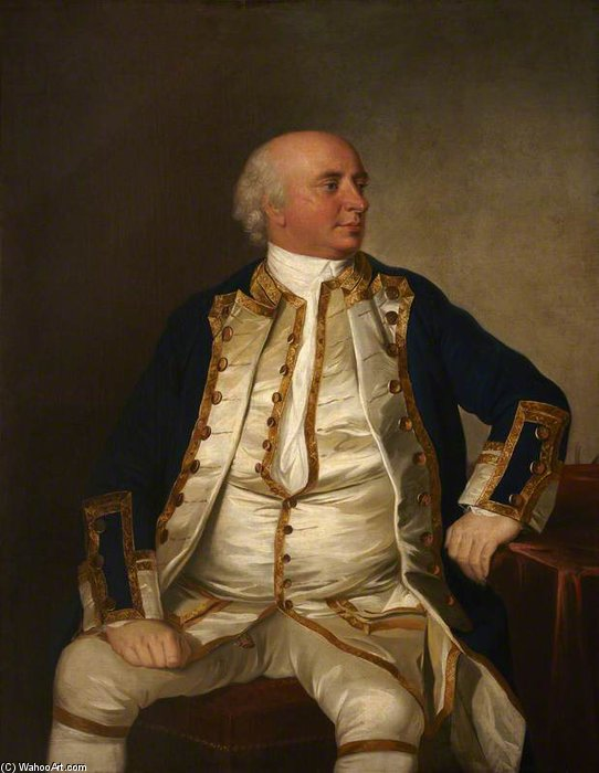 Commodore John Watson by Tilly Kettle (1735-1786, United Kingdom)